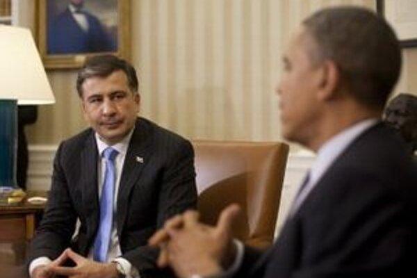Saakašvili počas nedávnej návštevy Bieleho domu.