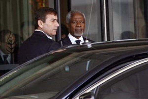 Kofi Annan v Sýrii.