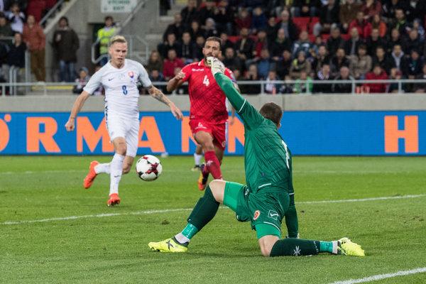 Futbalisti Slovenska si poradili s Maltou a využili zaváhanie Škótska.