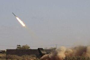Raketový útok pri meste Syrta.