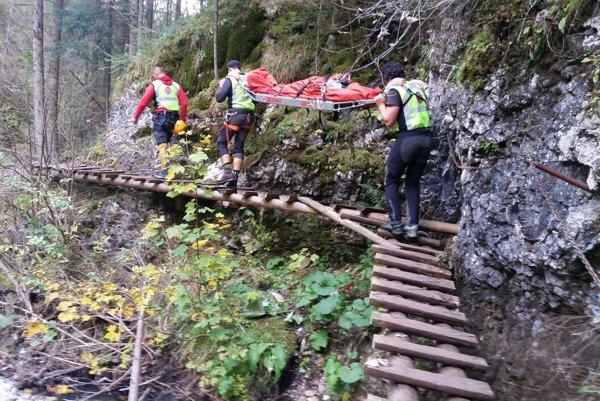 Zásah horskej služby pri Bielom potoku.