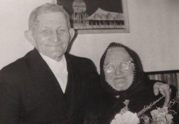 Ján Imre s manželkou Zuzanou. Počas vojny sa ujali rodiny Besedovej s malým Jurkom.