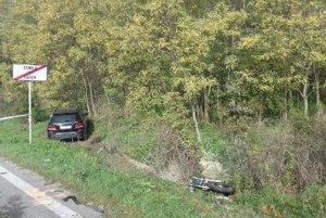 Tragická nehoda motocyklistu medzi obcami Dojč a Čáčov.