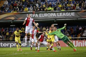 Momentka zo prvého stretnutia Villarreal - Slavia Praha.