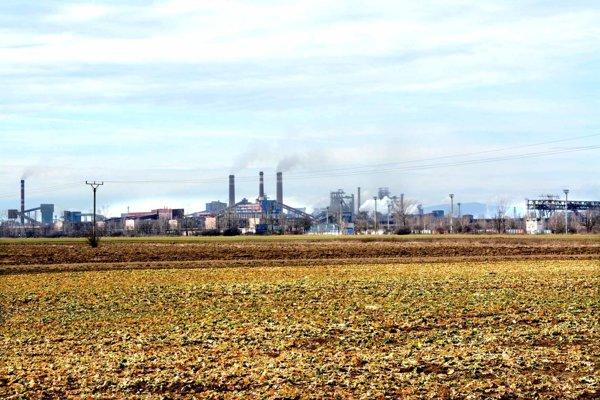 Zdaňované pozemky. Väčšina leží pod areálom U. S. Steelu.