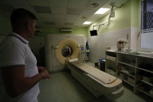 Starý CT prístroj.