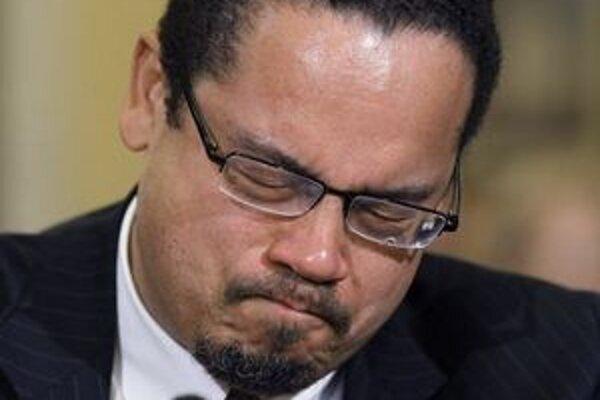 Keith Ellison, prvý moslim v Kongrese, svoj prejav zakončil v slzách.