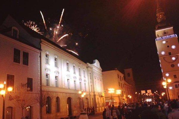 Silvestrovský ohňostroj v Trnave.