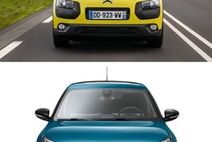 Porovnanie Citroenu C4 Cactus pred a po modernizácii.