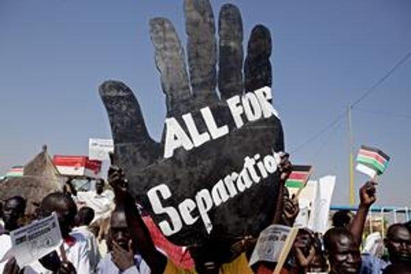 Najväčšia africká krajina je rozdelená na sever a juh, kde si samostatnosť želá až 97 percent obyvateľov.