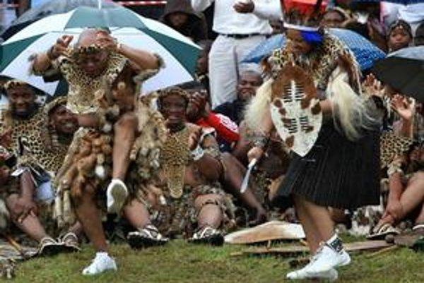 Jacob Zuma na svojej poslednej svadbe.
