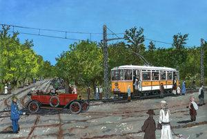 Ani žltej električke spájajúcej mesto s Petržalkov sa nehody nevyhýbali.