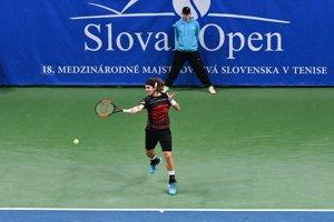 Lukáš lacko v priebehu finále Slovak Open.