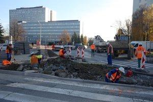 Križovatka Ipeľská. Jej uzavretie zatiaľ nespôsobuje podľa mesta aEurovie výraznejšie problémy vdoprave.