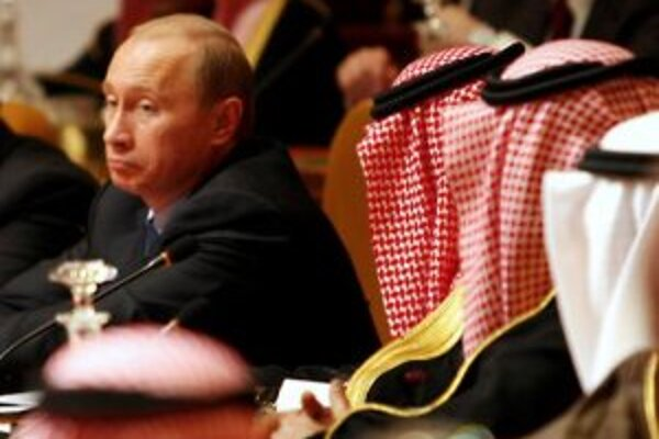 Vladimír Putin na návšteve Rijádu.