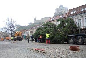 Vianočný stromček v Trenčíne