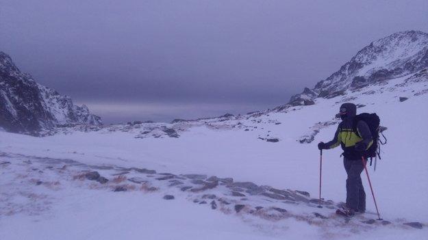 Najideálnejšie pre chôdzu boli snežnice.