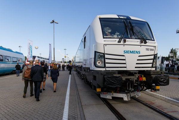 Lokomotíva Vectron od spoločnosti Siemens.
