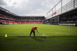 Nový futbalový štadión v Trnave býva zaplnený zriedka.