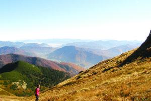 Pohľad z hrebeňa Malej Fatry.