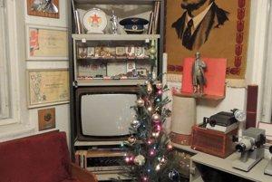 Retro Vianoce v retro domácej expozícii.