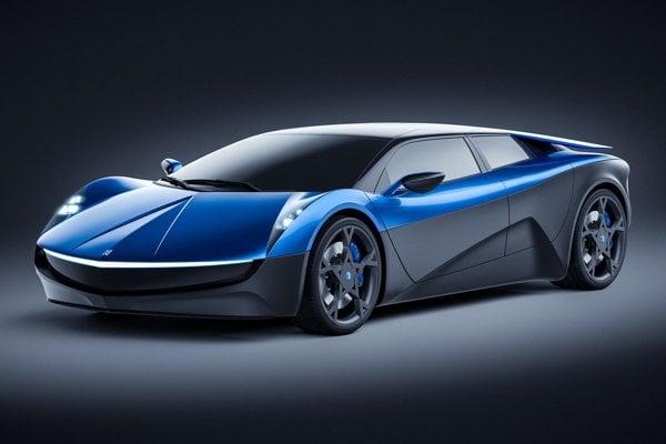 Švajčiarsky športový elektromobil Elextra. Elextra vyzerá ako kupé, ale je to štvordverová štvormiestna limuzína, poháňaná dvomi elektromotormi s celkovým výkonom 507 kW.