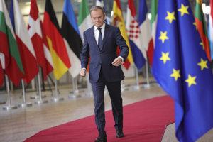 Stály predseda Európskej rady Donald Tusk na summite v Bruseli.