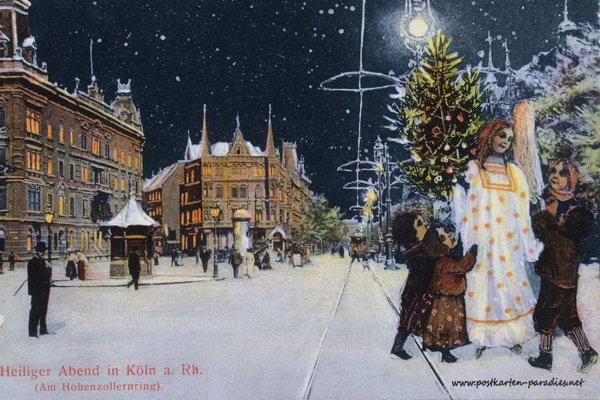 Stará vianočná pohľadnica.