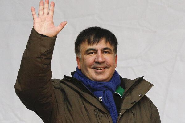 Saakašviliho stúpenci protestovali v Kyjeve, žiadali odstúpenie Porošenka