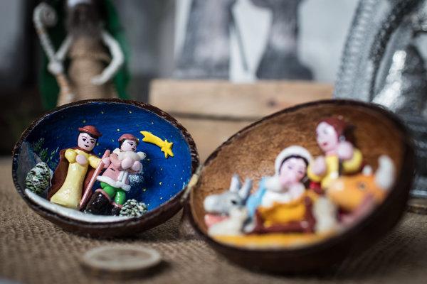 Vianočné betlehemy mávajú rôznu podobu a bývajú z rôznych materiálov.
