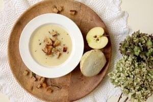 Biela zimná polievka.