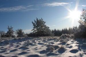 Zima na hrebeni Čergova.