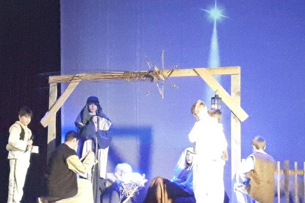 Pastieri v Betleheme pri Ježiškovi.