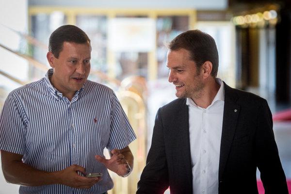 Daniel Lipšic (vľavo) a Igor Matovič.