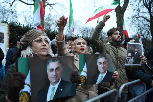 Protivládne protesty v Iráne.