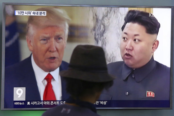 Americký prezident Donald Trump a vodca KĽDR Kim Čong-un.
