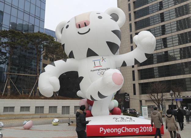 Maskot zimných olympijských hier 2018 v Pjongčangu, biely tiger Soohorang.