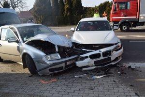 Dopravná nehoda v Krškanoch.