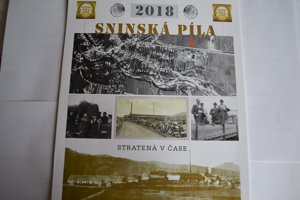 Kalendár Sninská píla stratená v čase. Je príbehový.