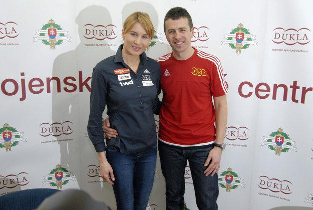 Anastasia Kuzminovová s manželom Danielom.