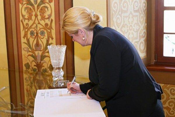 Chorvátska prezidentka na banskobystrickej Radnici.
