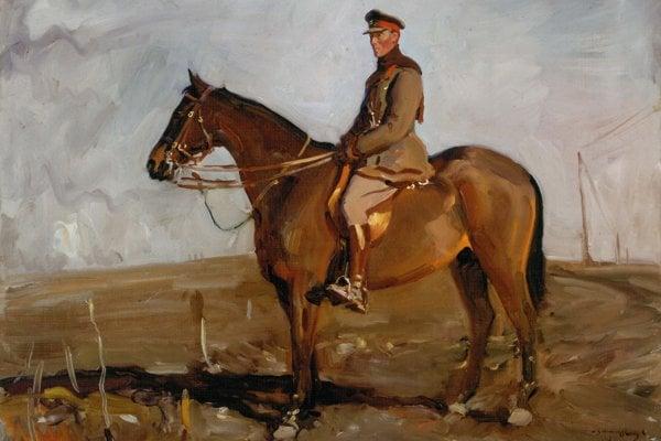Jack Seely v sedle koňa Warriora.