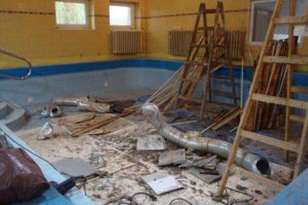 Detský bazén je zatvorený.