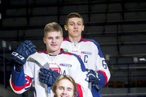 Zdola hore: Miloš Roman, Marek Korenčík a Martin Fehérváry. Všetci traja v roku 2017 absolvovali tak MS U18, ako aj MS U20.
