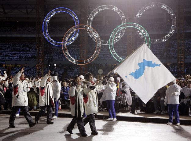 Kórejčania sa pod spoločnou vlajkou prezentovali aj na olympiáde.