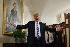 Takto víta Donald Trump návštevníkov Bieleho domu.