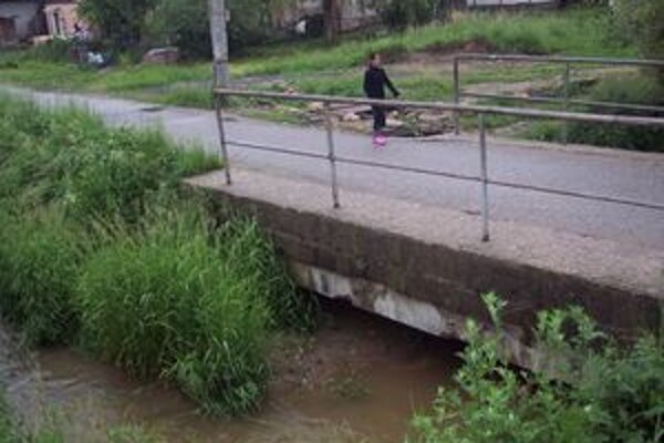 Pod mostom na Vrbovskej ulici je prietok zanesený.