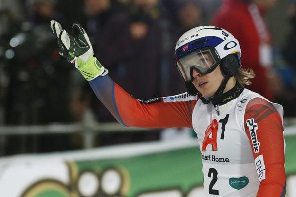 Henrik Kristoffersen v cieli druhého kola.