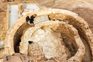 Pevnosť Masada.