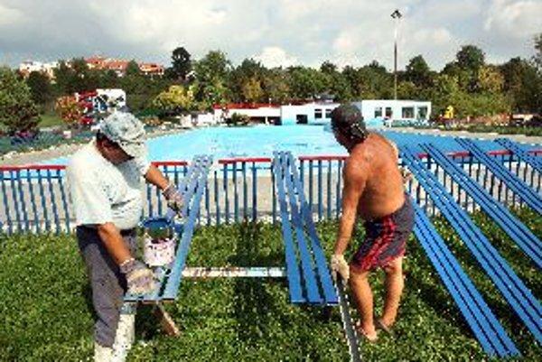 Tento bazén na plážovom kúpalisku by mal byť zakrátko prekrytý, čím nahradí chýbajúce Štiavničky